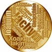 Česká jména - Jáchym - velká zlatá medaile 1 Oz