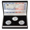 JAN PERNER – návrhy mince 200,-Kč - sada tří Ag medailí 1 Oz Proof