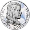 Jitka Lucemburská - 700. výročí narození stříbro proof