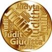 Česká jména - Judita - velká zlatá medaile 1 Oz