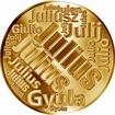 Česká jména - Julius - velká zlatá medaile 1 Oz