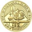 Nejkrásnější medailon IV. - Karlštejn 2 Oz zlato Proof