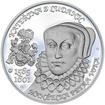 Kateřina z Ludanic - 450. výročí narození stříbro patina