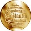 Slovenská jména - Konštantín - velká zlatá medaile 1 Oz