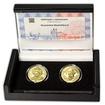 Korunovácia Maximiliána II. - návrhy mince 100 € sada Au medailí 1 Oz