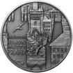 Královské hlavní město Praha - stříbro 28 mm patina