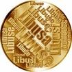Česká jména - Libuše - velká zlatá medaile 1 Oz