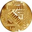 Česká jména - Ludvík - velká zlatá medaile 1 Oz