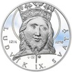 Ludvík IX. Francouzský - 800. výročí narození stříbro proof
