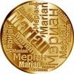 Česká jména - Marián - velká zlatá medaile 1 Oz