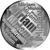 Česká jména - Miriam - velká stříbrná medaile 1 Oz