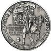 Muži 28. října - stříbro 28mm patina