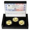 MOST V NÁMĚŠTI NAD OSLAVOU – návrhy mince 5000,-Kč sada tří Au medailí