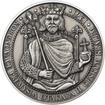 Korunovace Přemysla Otakara II českým králem -  stříbro patina