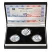 RABÍ JEHUDA LÖW – návrhy mince 200,-Kč - sada I. tří Ag medailí 34mm b