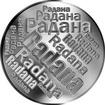 Česká jména - Radana - velká stříbrná medaile 1 Oz