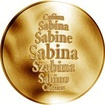 Česká jména - Sabina - zlatá medaile