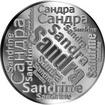 Česká jména - Sandra - velká stříbrná medaile 1 Oz