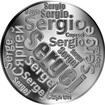 Česká jména - Sergej - velká stříbrná medaile 1 Oz