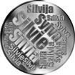 Česká jména - Silvie - velká stříbrná medaile 1 Oz