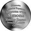 Česká jména - Simona - velká stříbrná medaile 1 Oz