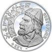 Svatopluk - kníže Velkomoravské říše - 28 mm stříbro Proof