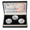 TOMÁŠ BAŤA ml. – návrhy mince 200,-Kč - sada tří Ag medailí 34mm b.k.