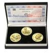 TOMÁŠ BAŤA ml. – návrhy mince 200,-Kč - sada tří zlatých medailí Proof