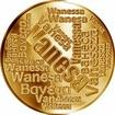 Česká jména - Vanesa - velká zlatá medaile 1 Oz