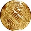 Česká jména - Vladan - velká zlatá medaile 1 Oz
