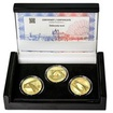 ŽĎÁKOVSKÝ MOST – návrhy mince 5000,-Kč sada tří Au medailí 1/2 Oz b.k.