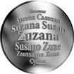 Česká jména - Zuzana - stříbrná medaile