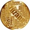 Česká jména - Zuzana - velká zlatá medaile 1 Oz