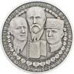 90. výročí vzniku ČSR - stříbro 1 Oz patina