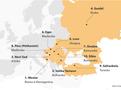 Mapa levn�ch a kvalitn�ch evropsk�ch destinac�