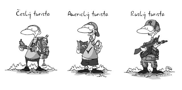 Rusky Turista Kresleny Vtip
