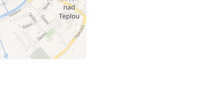 Školní v obci Bečov nad Teplou - mapa ulice