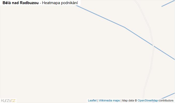 Mapa Bělá nad Radbuzou - Firmy v obci.