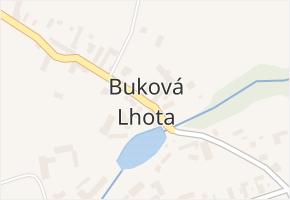 Buková Lhota v obci Benešov - mapa části obce