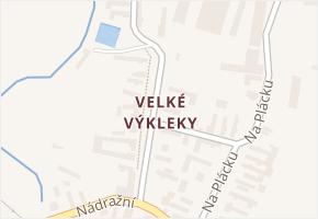 Velké Výkleky v obci Běrunice - mapa části obce