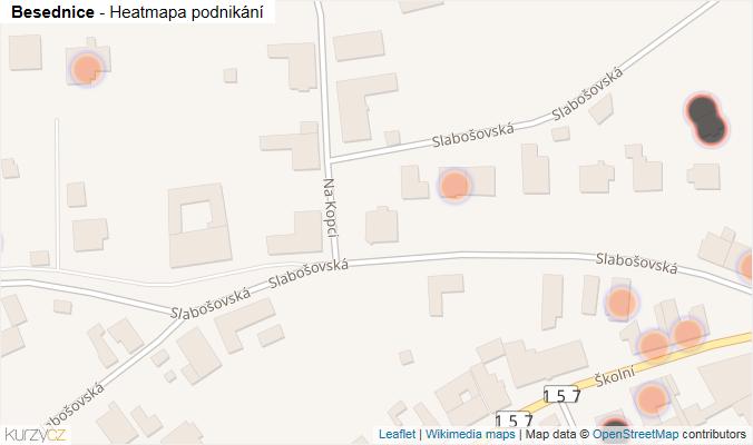Mapa Besednice - Firmy v obci.
