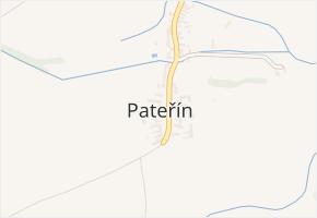 Pateřín v obci Bílá Lhota - mapa části obce