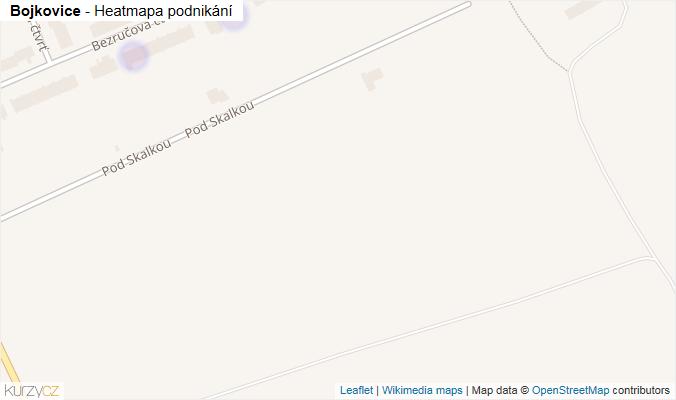 Mapa Bojkovice - Firmy v obci.