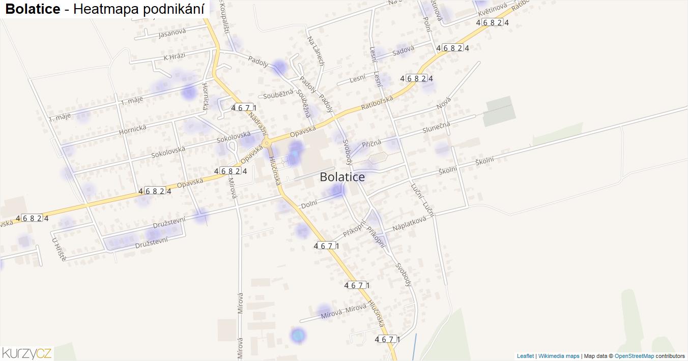 Bolatice - mapa podnikání