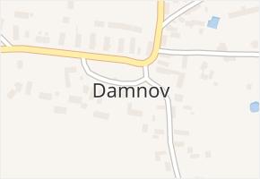 Damnov v obci Bor - mapa části obce