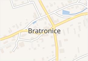 Bratronice v obci Bratronice - mapa části obce