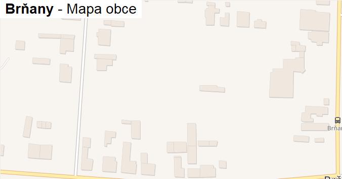 Brňany - mapa obce