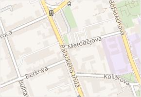Brno-Královo Pole v obci Brno - mapa městské části