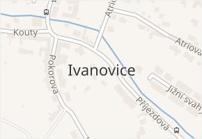 Ivanovice v obci Brno - mapa části obce