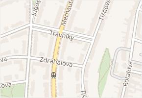 Merhautova v obci Brno - mapa ulice
